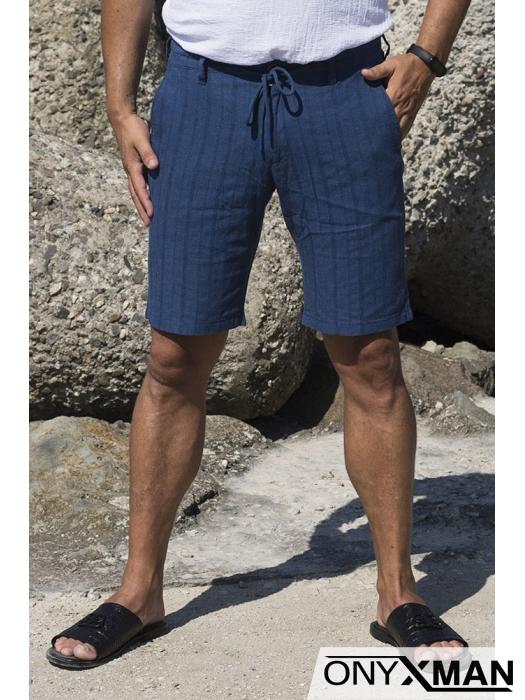 Къс панталон в тъмно синьо