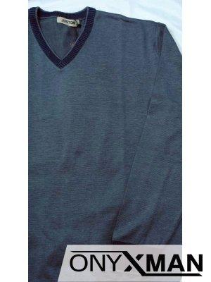 Мъжка блуза с V-образно деколте Големи размери от 2XL до 4XL