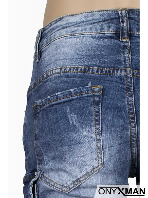 Модерни къси дънки със странични джобове