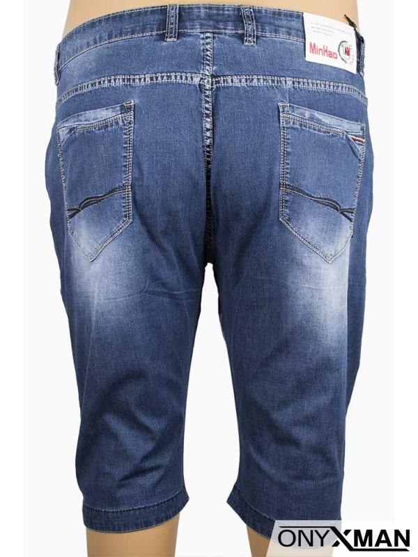 Къси мъжки дънки (Големи размери)