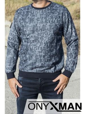 Мъжка блуза с букви