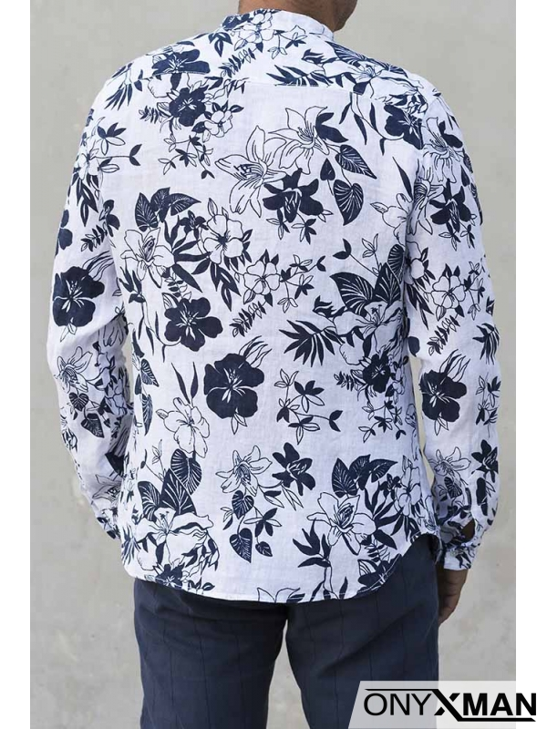Ленена риза с цветя