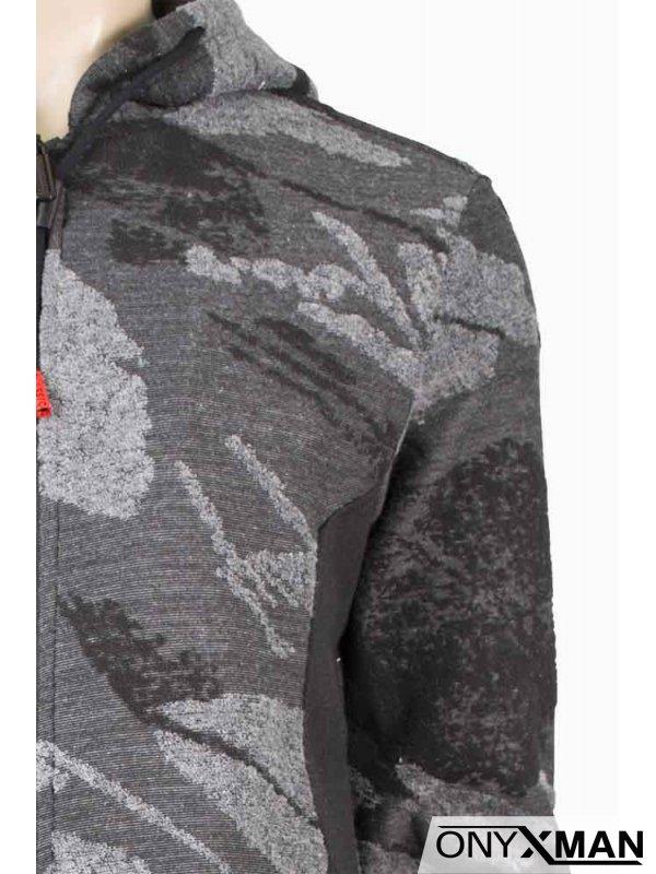 Мъжка издължена горница в сиво