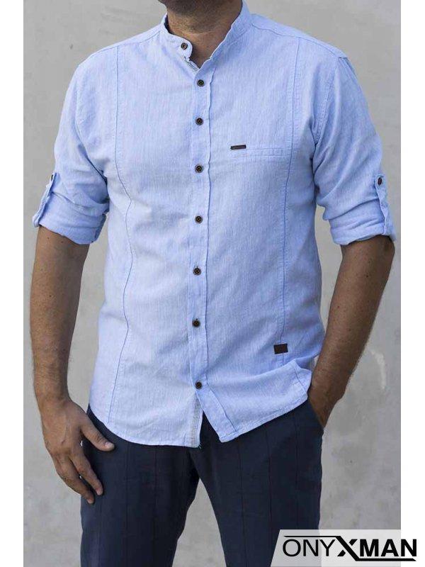 Риза с дълъг ръкав в тъмно сиво 2213031