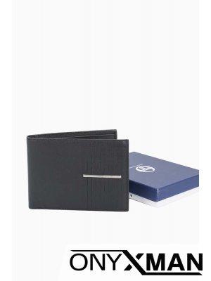 Мъжки портфейл с метална емблема