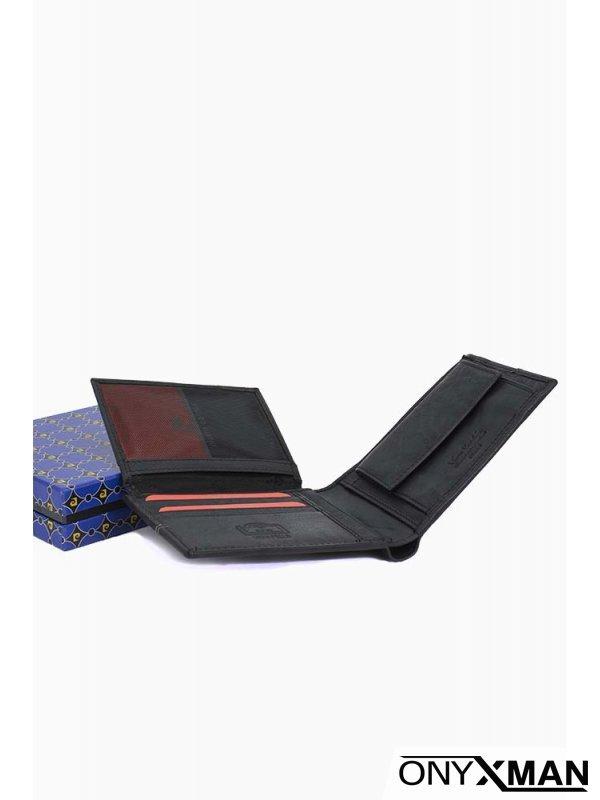 Елегантен портфейл в черен цвят