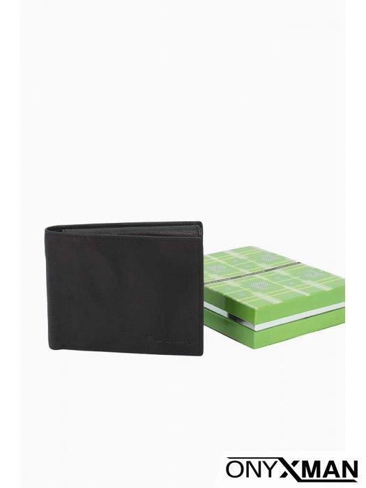 Мъжки портфейл класически дизайн в черен цвят