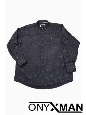 Мъжка риза с модерен десен (СУПЕР големи размери от 2XL до 6XL)