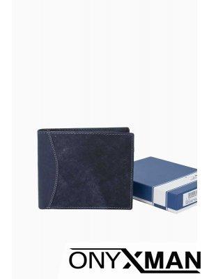 Стилен портфейл в синьо- 1552
