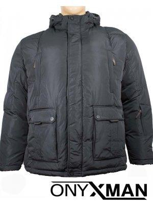 Дебело зимно яке с обемни джобове Големи размери