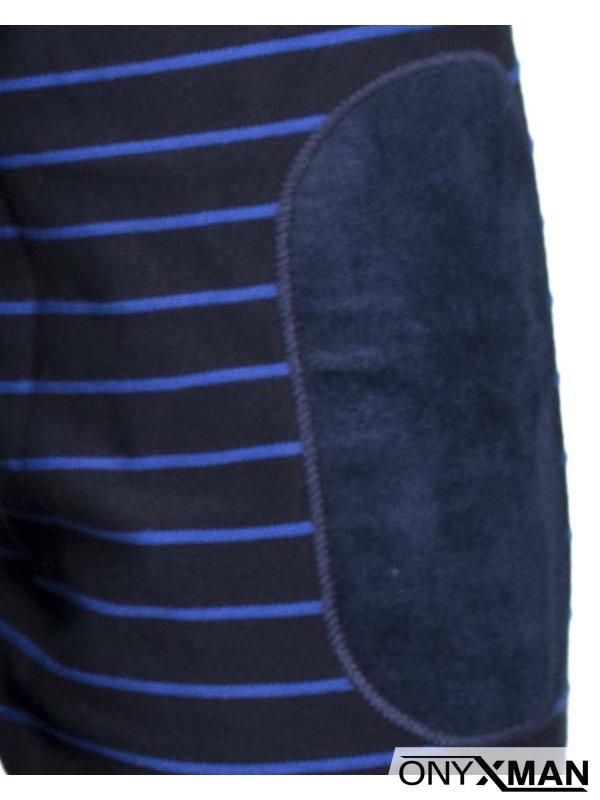 Мъжка елегантна блуза с остро деколте