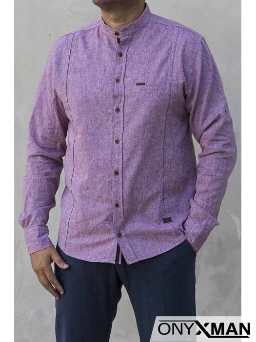Риза с дълъг ръкав в бордо 2213051