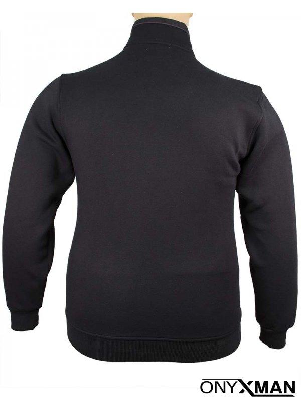 Мъжки суичър в черен цвят