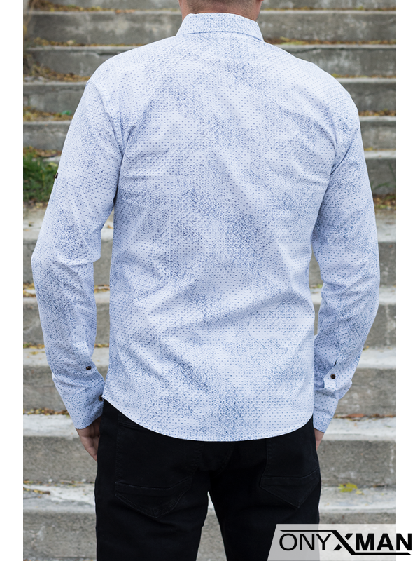 Мъжка риза с цветни мотиви