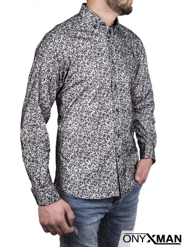 Мъжка риза със свободна кройка № 221221
