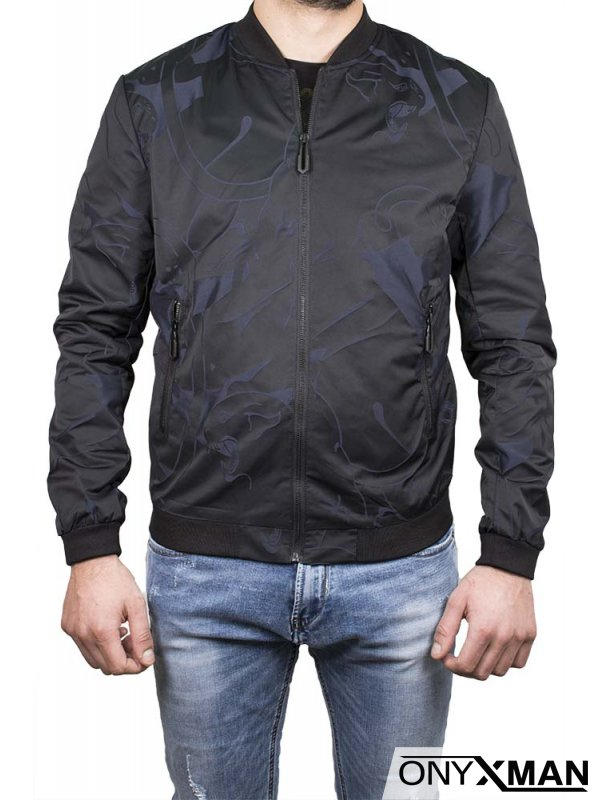 Мъжко яке, тип Пилотско, с анимъл принт