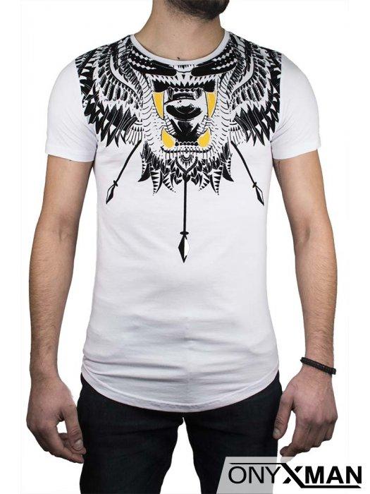 Тениска в бяло с интересен принт №:150062