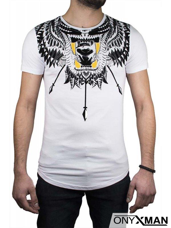 Тениска в черно с интересен принт №:150061