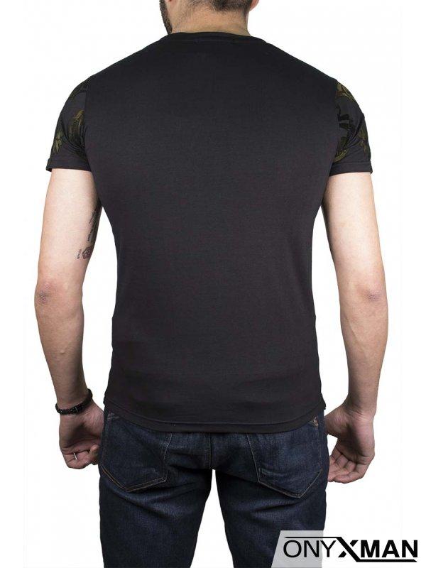 Тениска с кадифени орнаменти