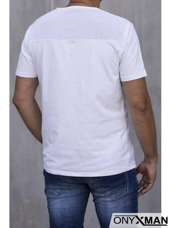 Бяла тениска с връзки