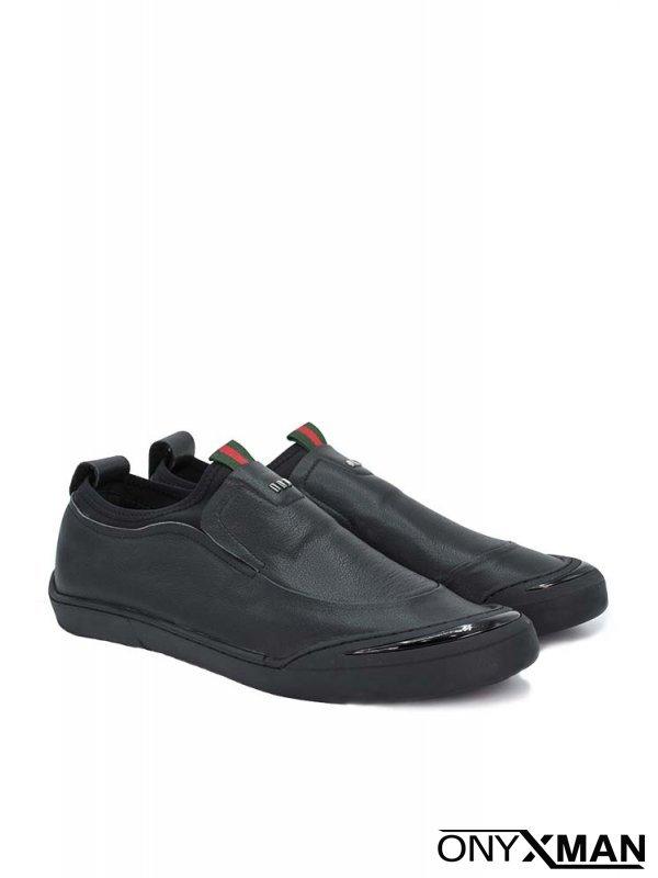 Мъжки обувки с метални ленти