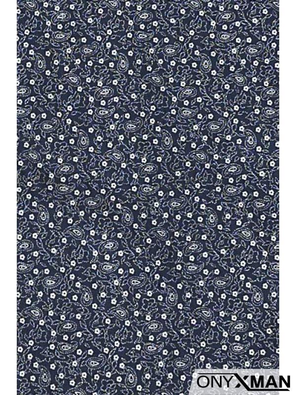Мъжка риза Макси размер в син цвят