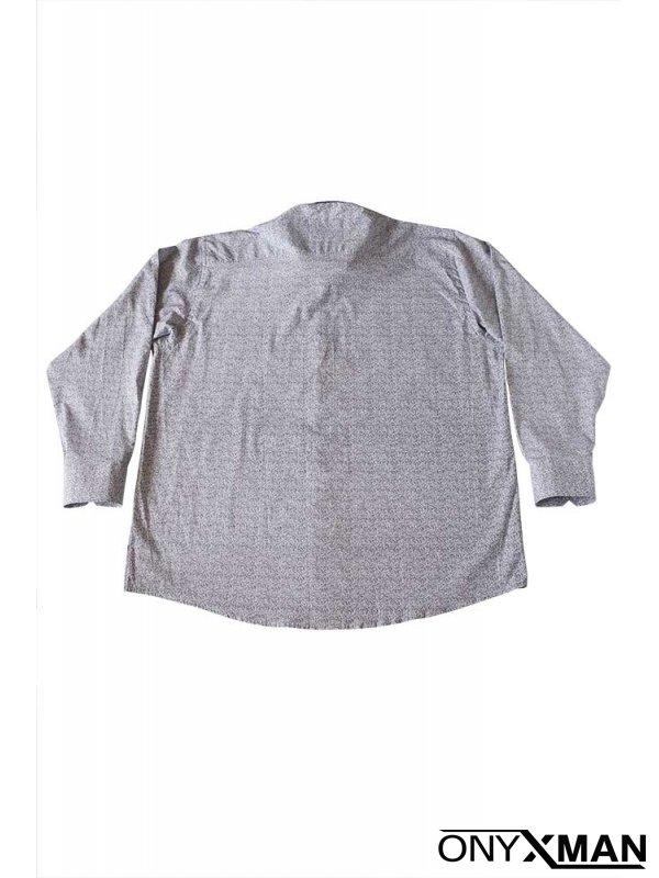 Мъжка риза Макси размер в бяло