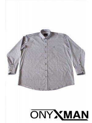 Мъжка риза в бяло Големи размери
