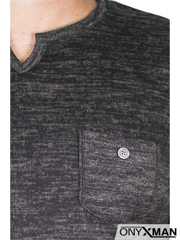Блуза с джобче