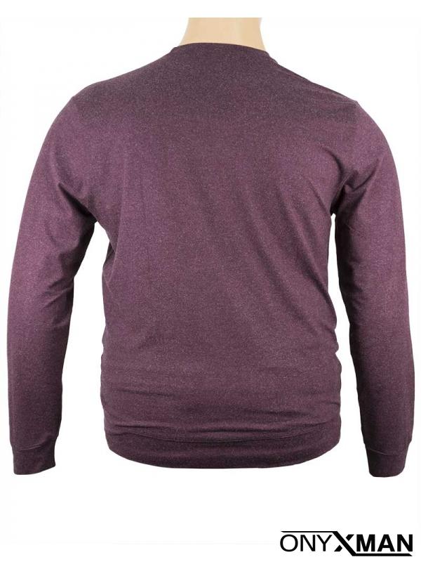 Блуза в бордо Големи размери 1104131