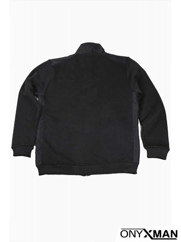 Суичър в черно без качулка