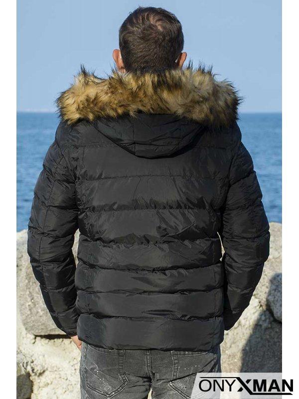Топло зимно яке в черно
