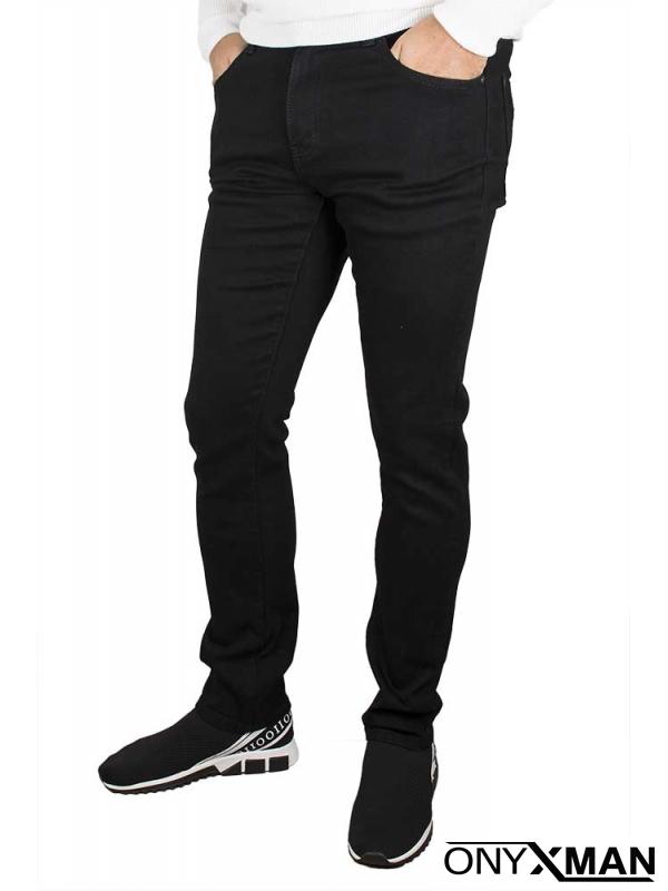 Чисто черни мъжки дънки
