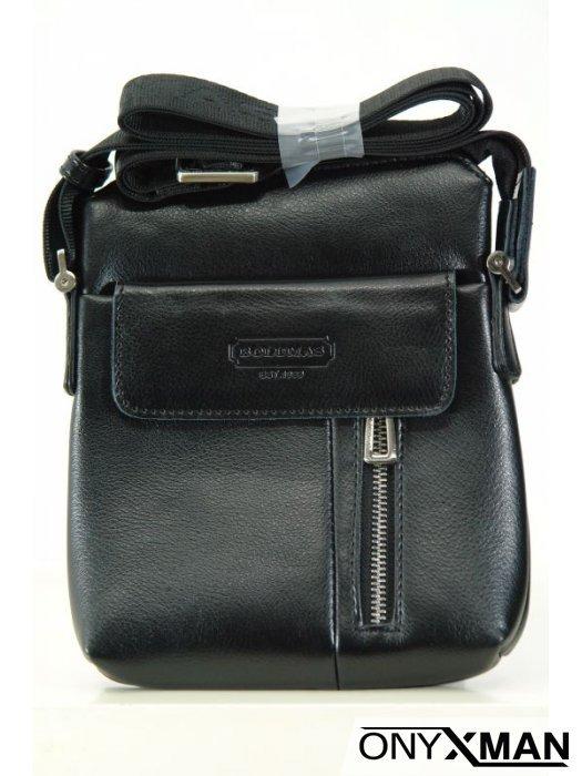 Стилна мъжка чанта от еко кожа