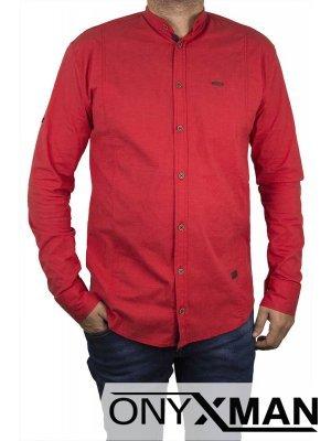 Мъжка риза в червено