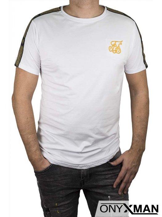 Бяла тениска с бродерия