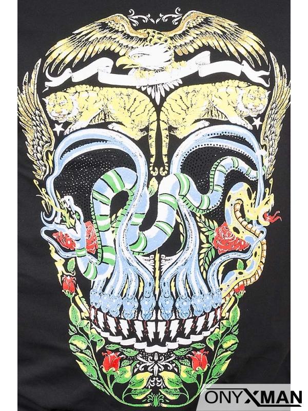 Тениска със свеж цветен принт