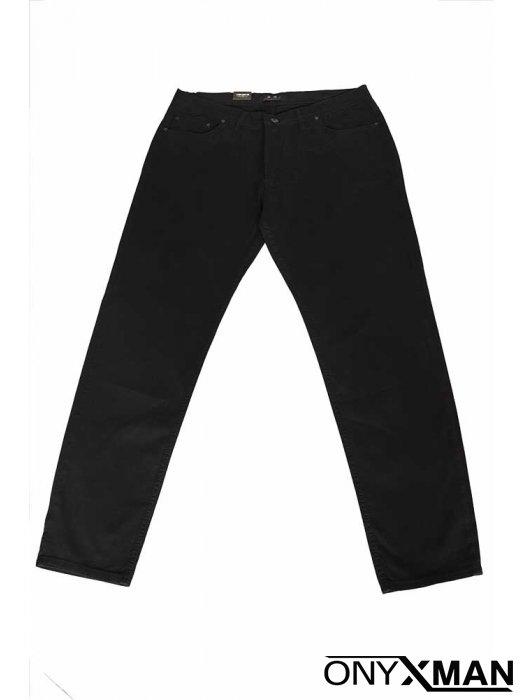 Черен мъжки панталон Големи размери