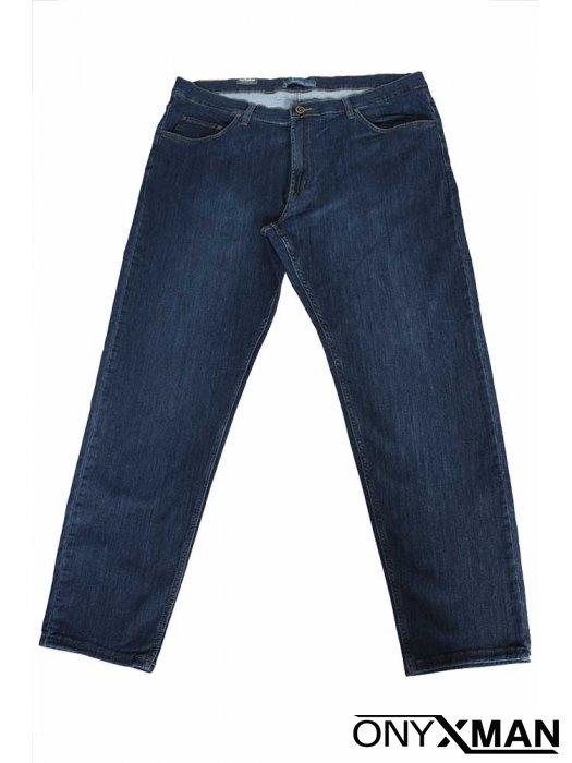 Сини мъжки дълги дънки Големи размери