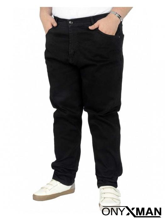 Мъжки черни дънки Големи размери