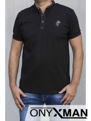 Стилна тениска в черно 151062
