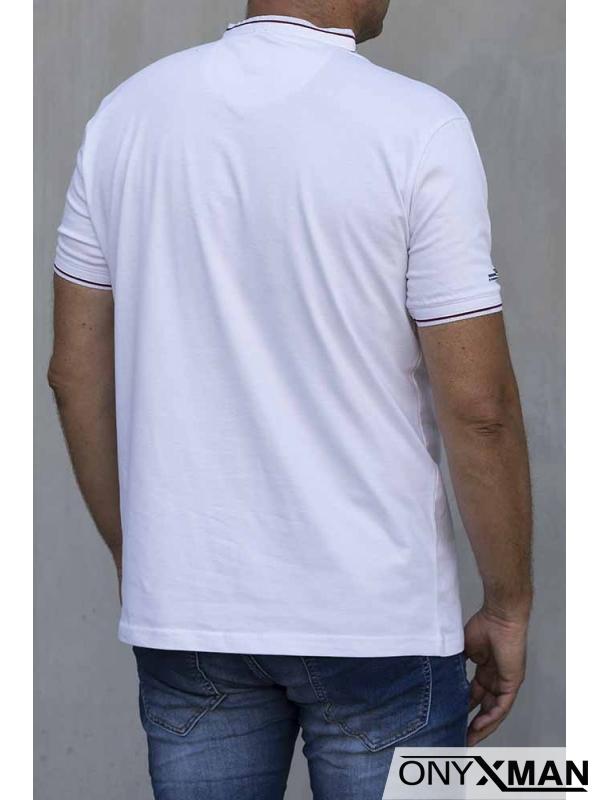 Стилна тениска в бяло 151061