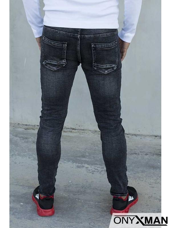 Черен дънков панталон 51029