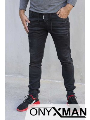 Мъжки черни дънки 51036
