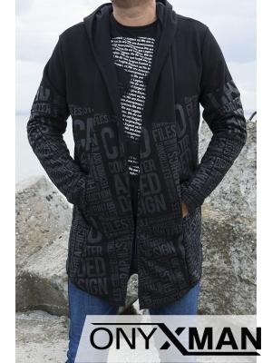 Асиметрична жилетка в черен цвят