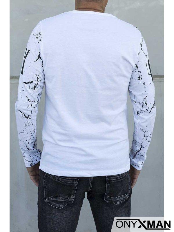 Блуза трико в бяло