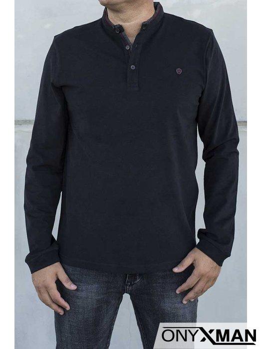 Стилна блуза в черен цвят 140212