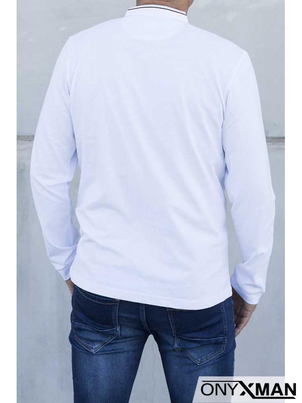 Стилна блуза в бяло 140211