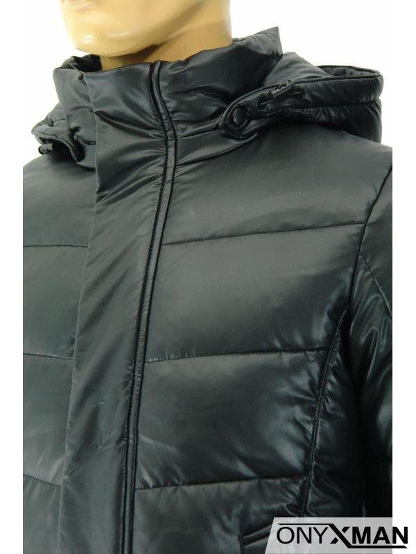 Модерно зимно мъжко яке с био пух