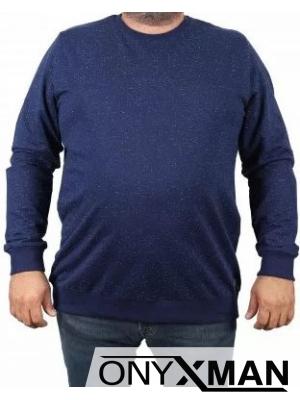 Зимна блуза в синьо Големи Размери
